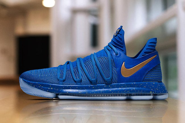 Nike KD 10 Finals PE Blue Gold Game 1