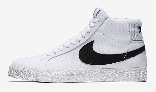 Nike SB Blazer Mid Canvas White Black Gum