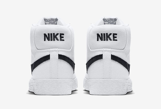 Nike SB Blazer Mid Canvas White Black Gum