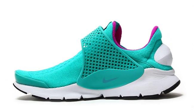 Nike Sock Dart Clear Jade Hyper Violet