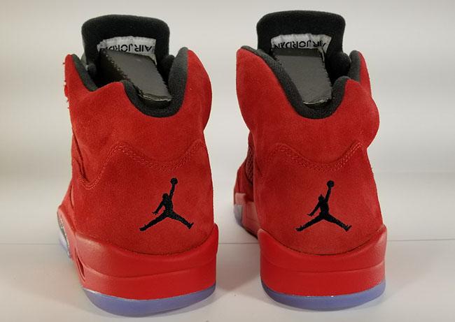 Red Suede Jordan 5 Retro