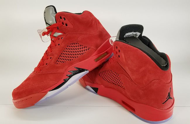 Red Suede Jordan 5 Retro