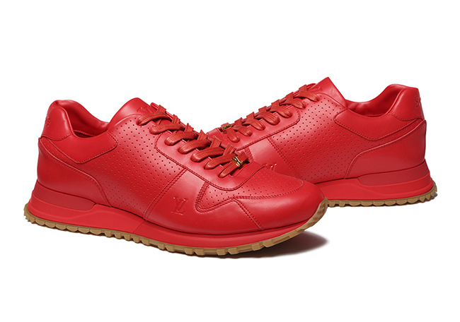 Supreme LV Louis Vuitton Run Sneaker Red Gum