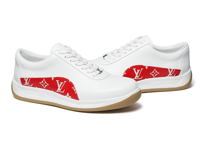 Supreme LV Louis Vuitton Sport Sneaker White Gum