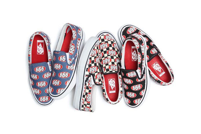 Supreme Vans Slip-On 666 Collection