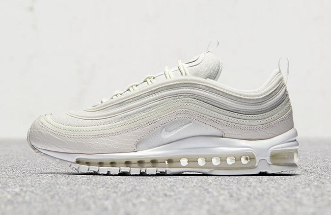White Snakeskin Nike Air Max 97 Summit White