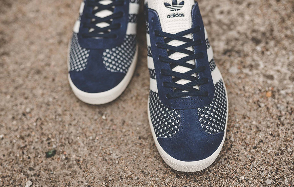 adidas Gazelle Primeknit Navy White