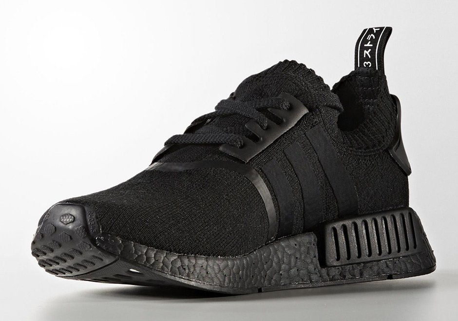 adidas nmd r1 primeknit japan triple black bz0220 release. Black Bedroom Furniture Sets. Home Design Ideas