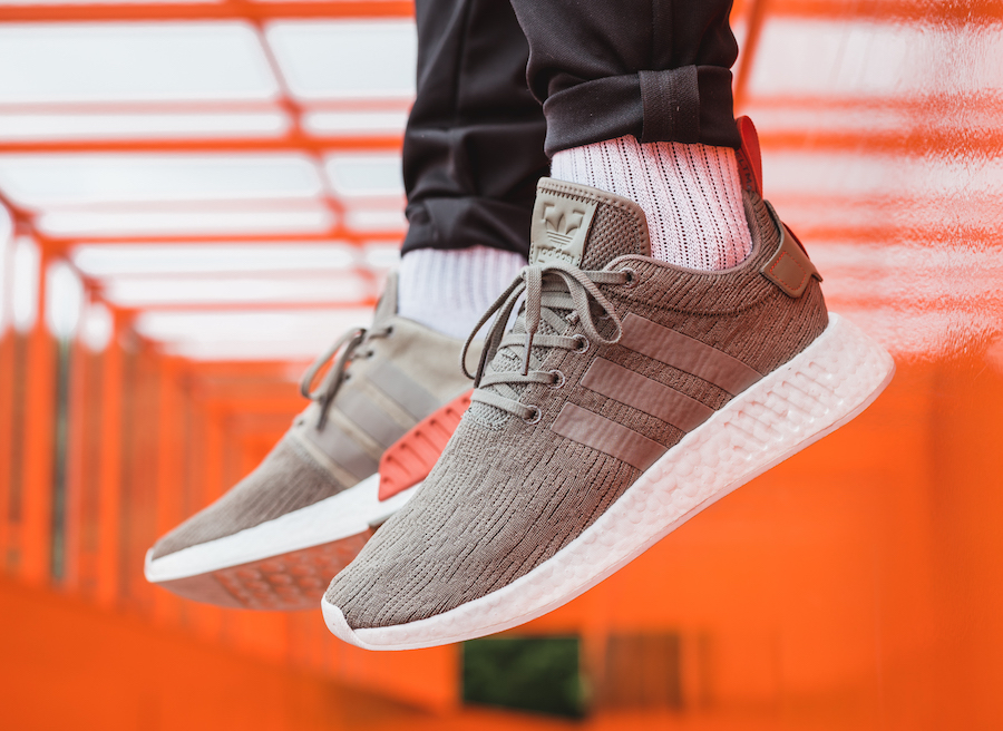 new styles c3d6b d8d19 New Cheap Adidas NMD R2 Olive/Black BA7198