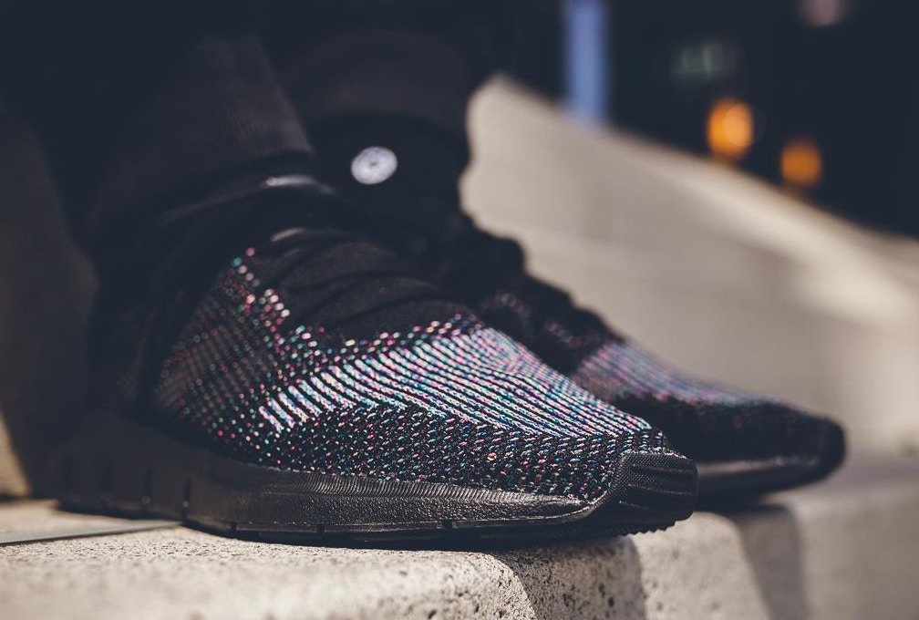 adidas Swift Run Primeknit On Feet