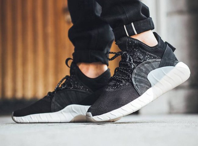 adidas tubular rise core black & white