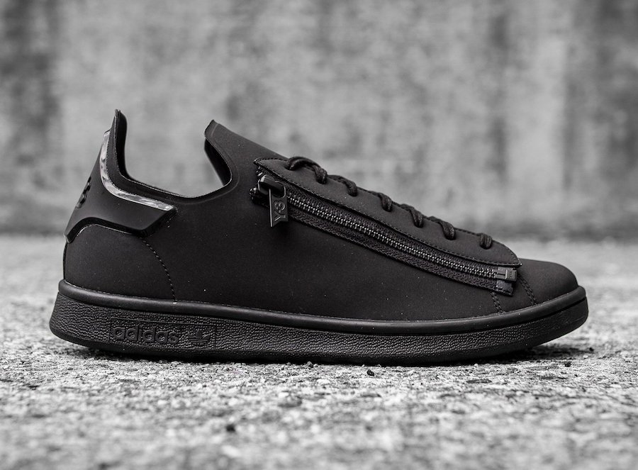 get cheap 95aa4 040cf adidas Y-3 Stan Smith Zip Triple Black CG3207 | SneakerFiles