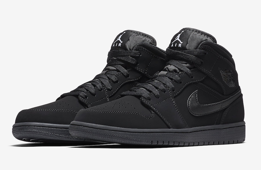Air Jordan 1 Mid Black White 554724-040