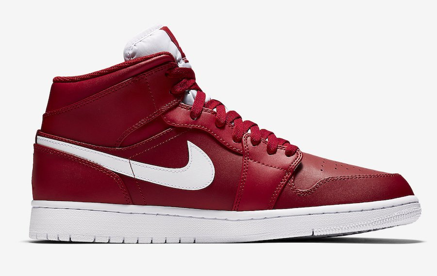 Air Jordan 1 Mid Gym Red White