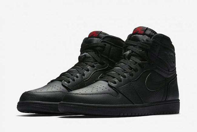 Air Jordan 1 Premium Essentials Triple Black August 2017