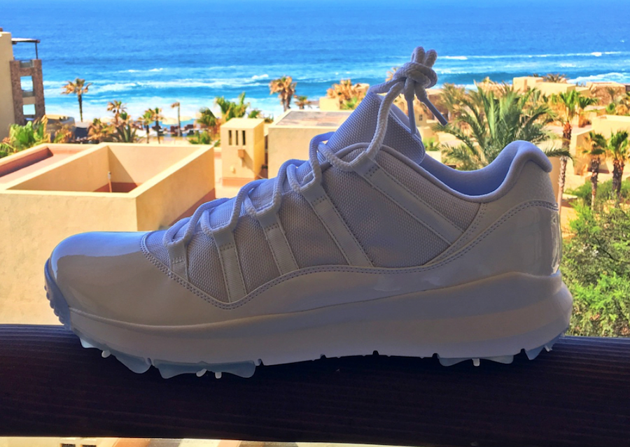 Air Jordan 11 Low Golf Shoes Triple White  4814d1155
