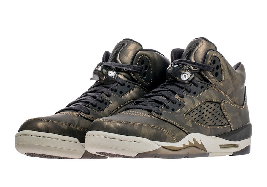 Air Jordan 5 Premium Heiress Metallic Camo 919710-030