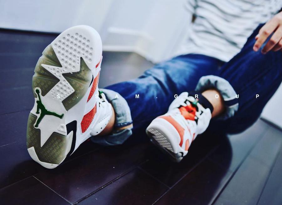 on sale 60391 ea724 Air Jordan 6 Gatorade Like Mike On Feet