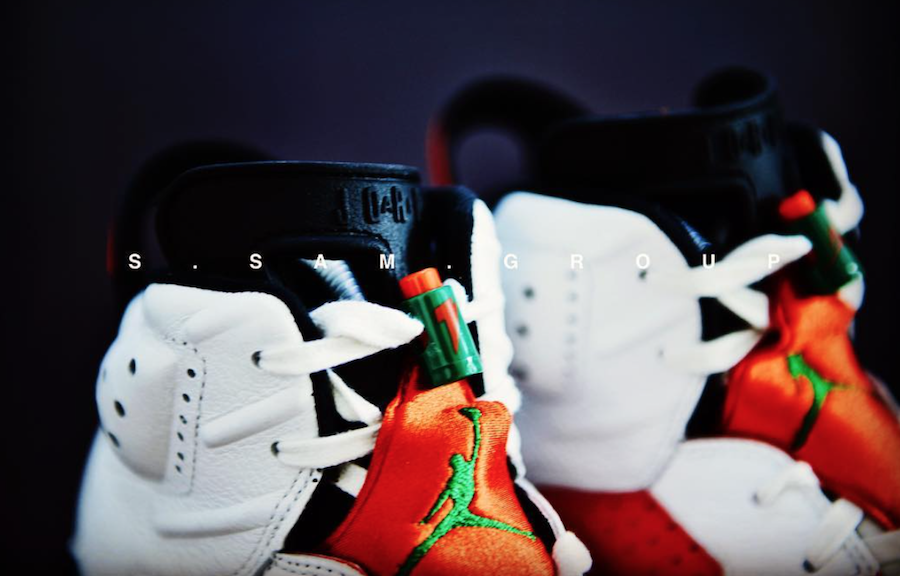 4f3eab37d082b6 Air Jordan 6 Gatorade White Orange Green 384664-145