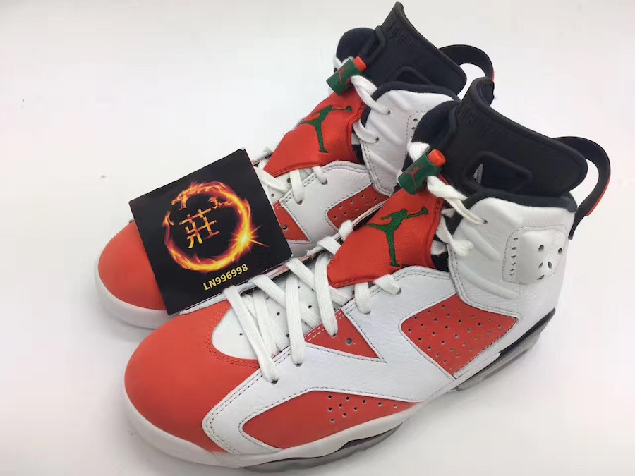 8e4a81b76ff Air Jordan 6 Gatorade White Orange Green 384664-145 | SneakerFiles