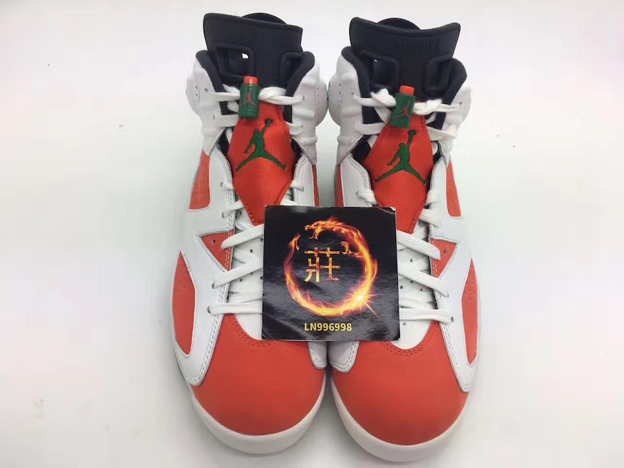 f05942751e7 Air Jordan 6 Gatorade White Orange Green 384664-145
