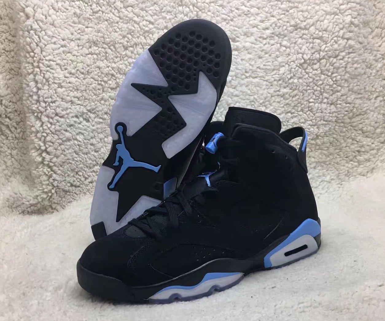 f8e7557463b8c6 Air Jordan 6 UNC Black University Blue 384664-006 Release Date ...