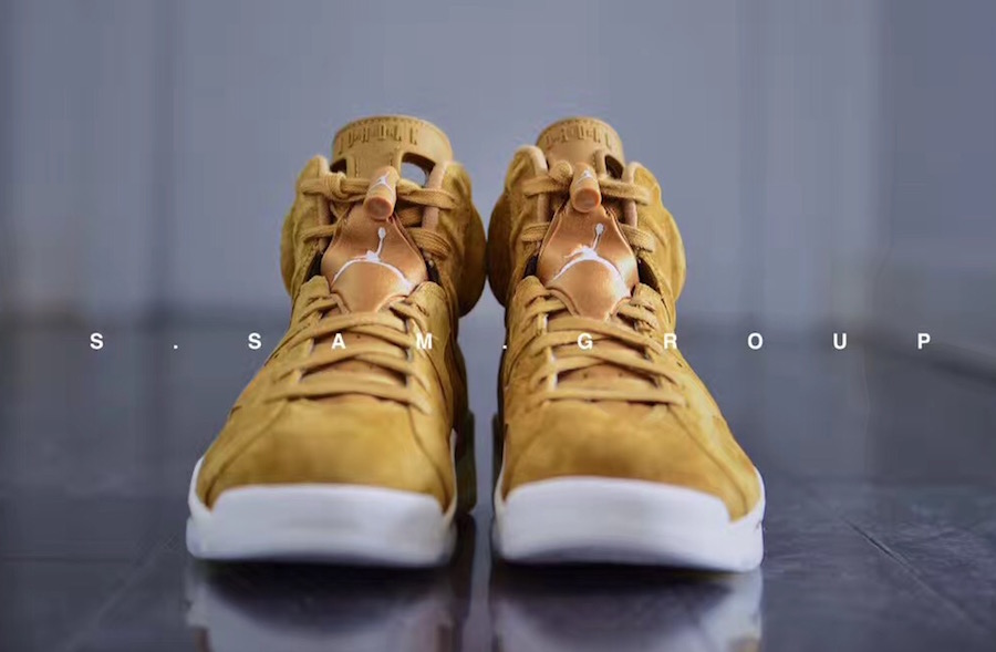 Air Jordan 6 Wheat Golden Harvest Sail 384664-705