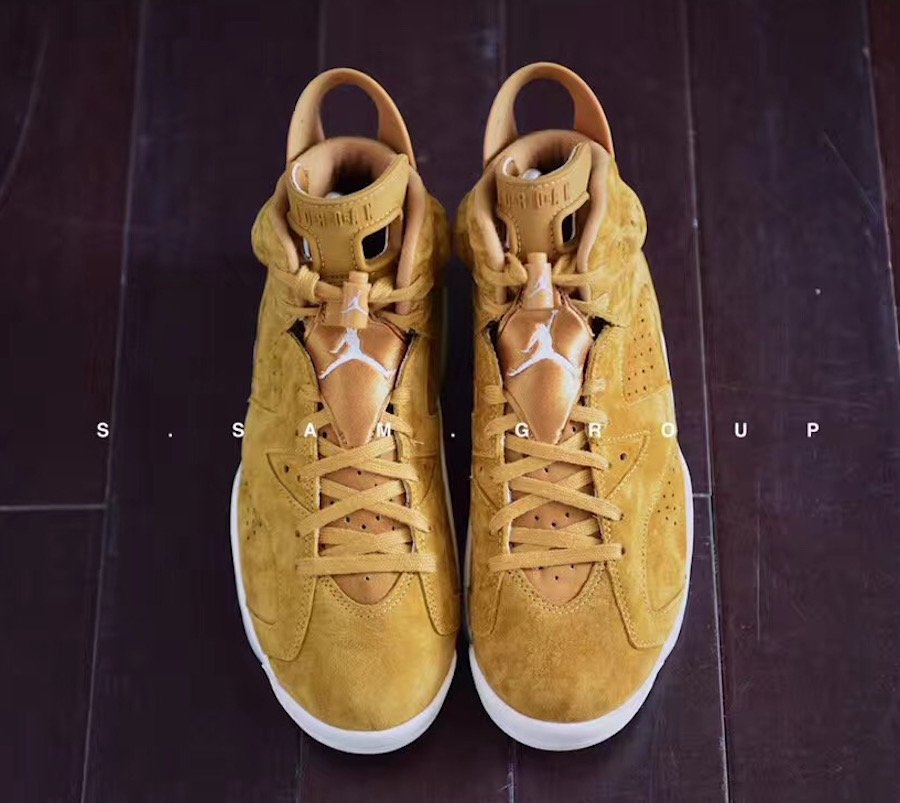 competitive price 78616 0be9a Air Jordan 6 Wheat Golden Harvest Sail 384664-705