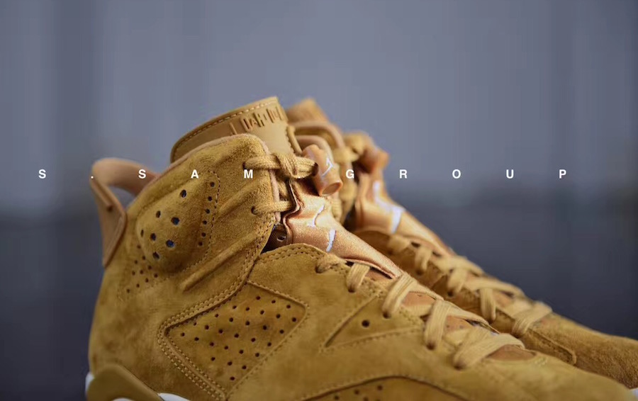aeb438dcb1990f Air Jordan 6 Wheat Golden Harvest Sail 384664-705