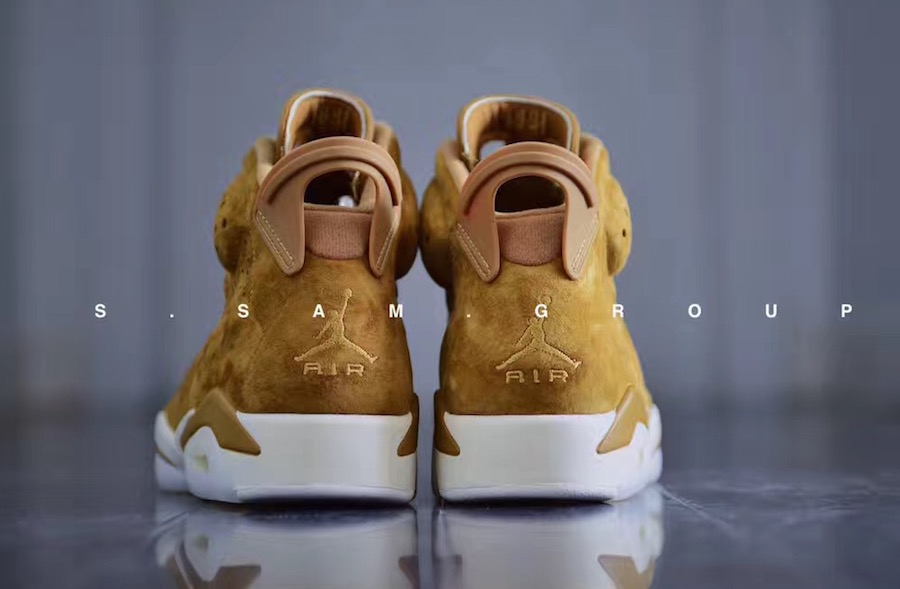 b708dc706e05d5 Air Jordan 6 Wheat Golden Harvest Sail 384664-705