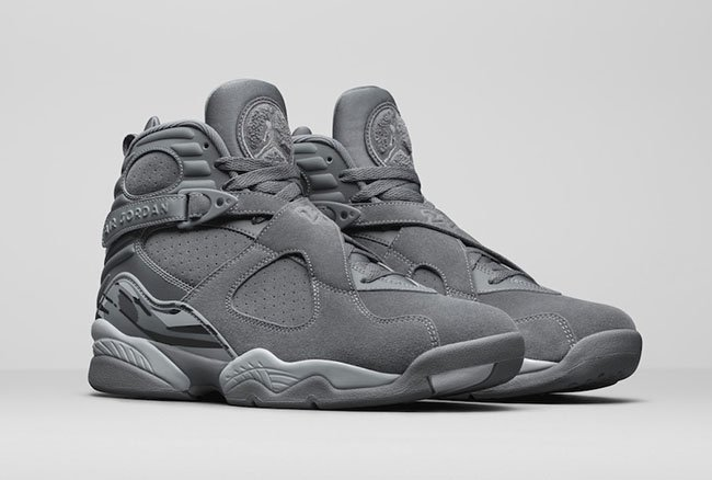 Air Jordan 8 Cool Grey August 2017