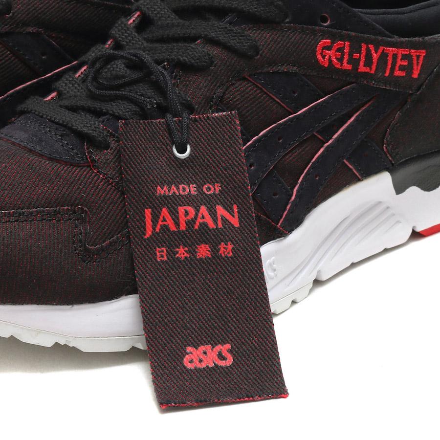 Asics Gel Lyte III V Japanese Denim Black Red