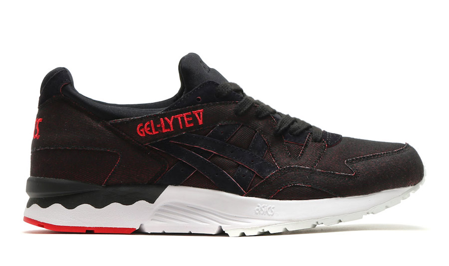 size 40 8284d 46cc3 Asics Gel Lyte Japanese Denim Black Red | SneakerFiles