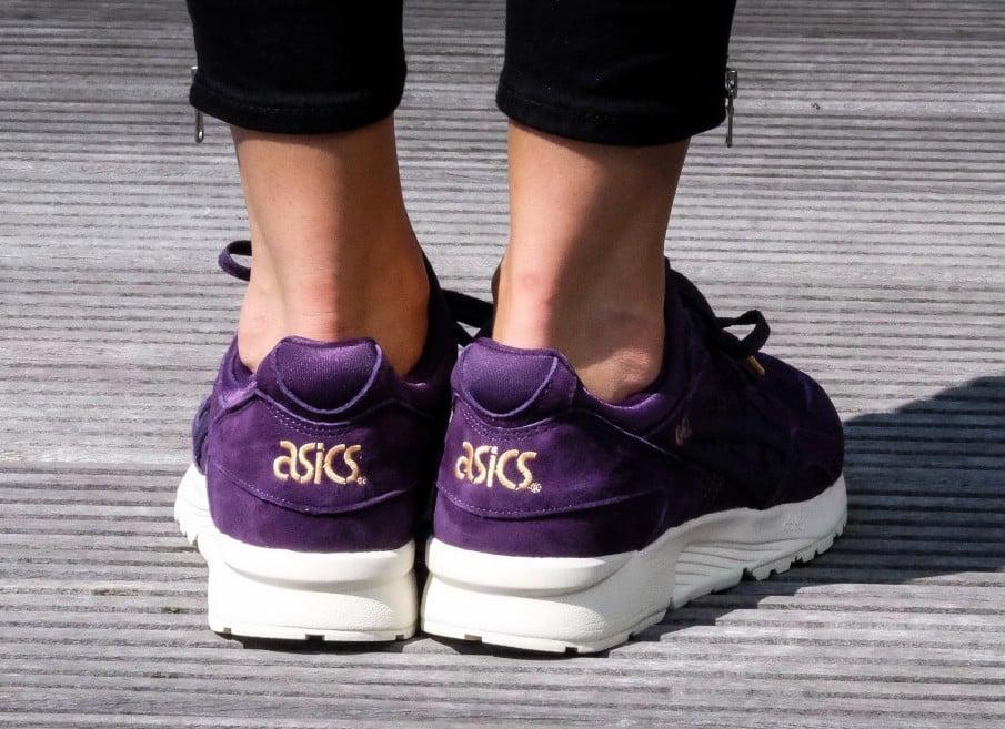 Asics Gel Lyte V Purple Suede Gold