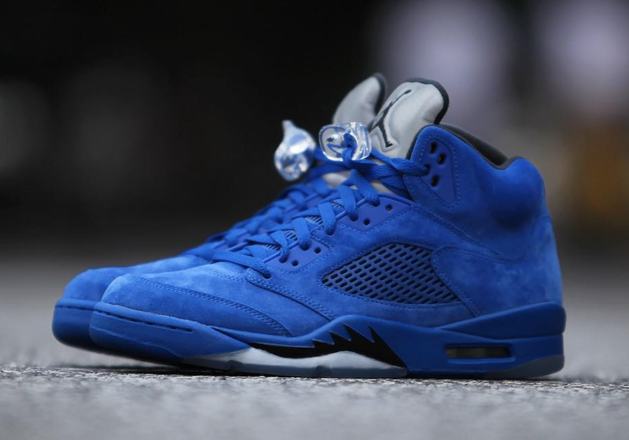 best authentic 04cea b310e Air Jordan 5 Blue Suede 136027-401 Release Date | SneakerFiles