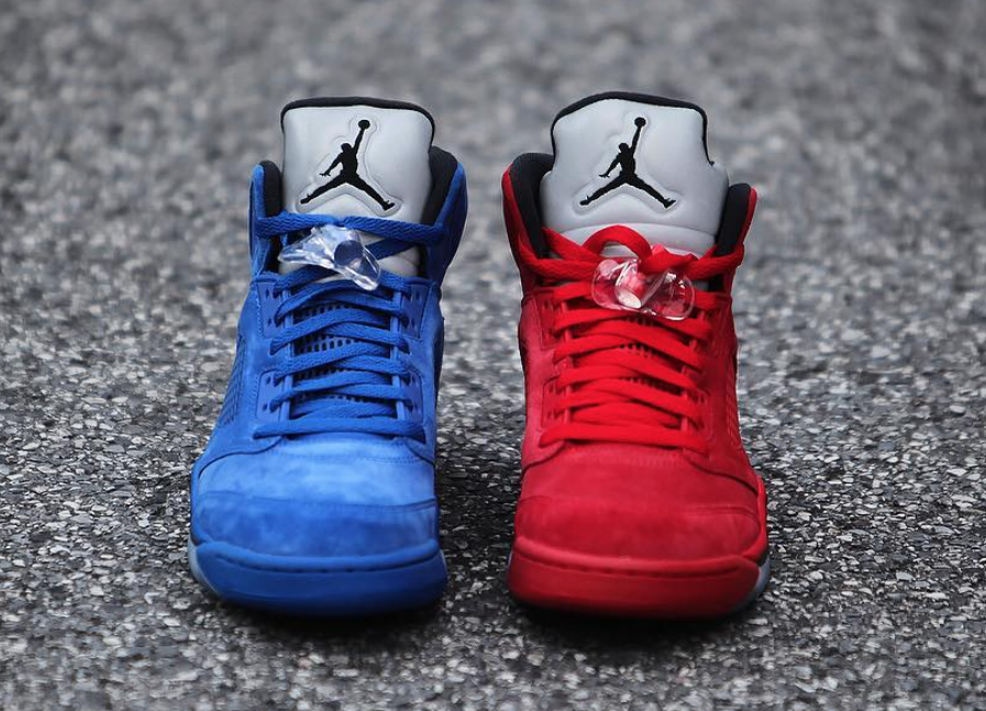 best authentic acc2e c7d4f Air Jordan 5 Blue Suede 136027-401 Release Date | SneakerFiles