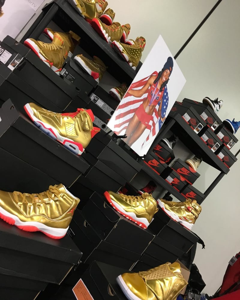 Brigetta Barrett Gold Air Jordan Retro Collection