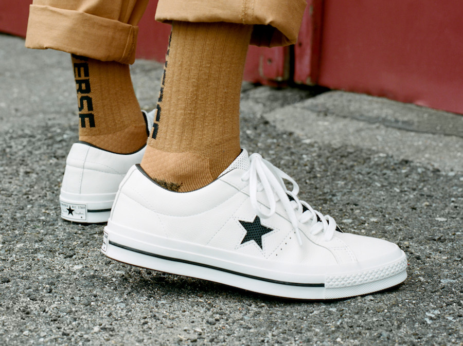 Converse One Star Perforated Leather Collection