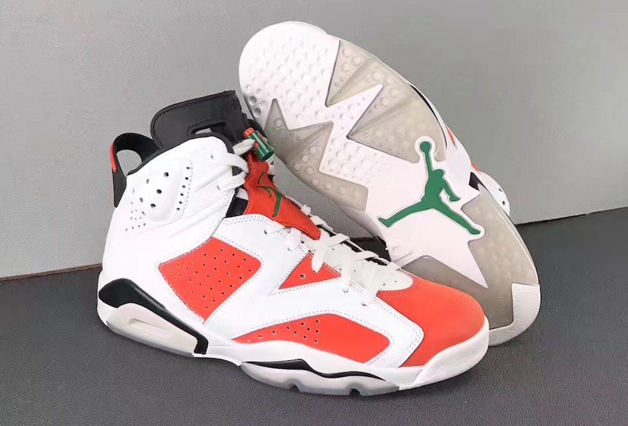 4631c4a99e0ac2 Air Jordan 6 Gatorade White Orange Green 384664-145
