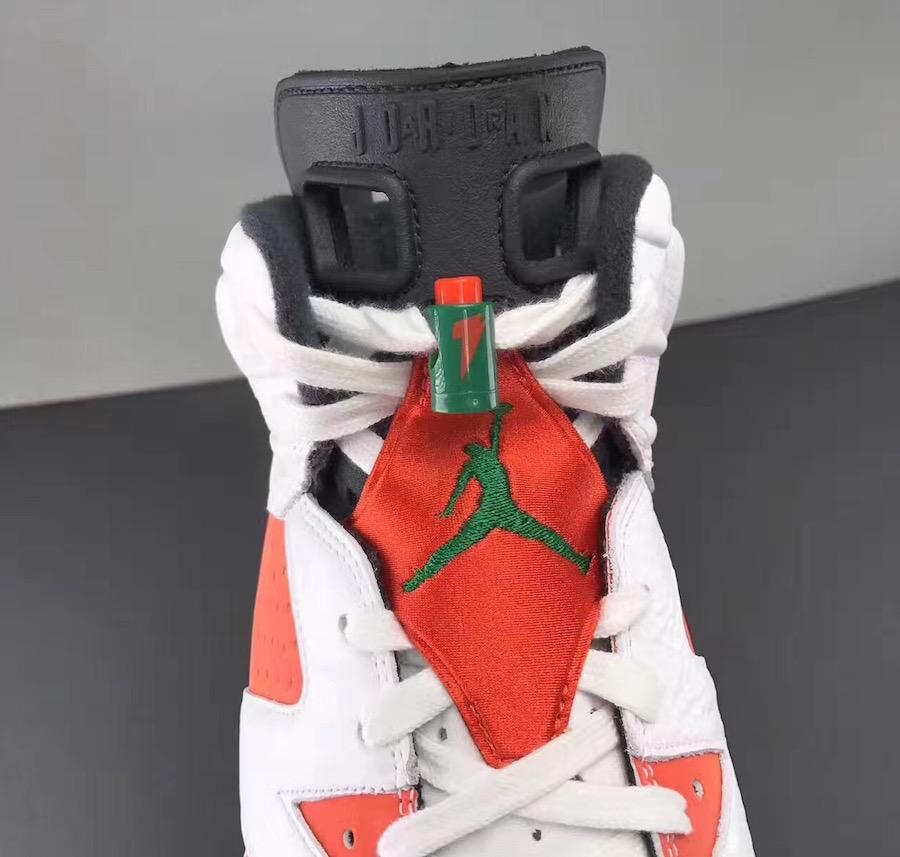 Air Jordan 6 Gatorade White Orange