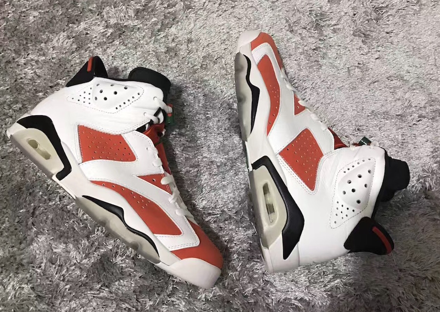 Gatorade Air Jordan 6 White Orange Green