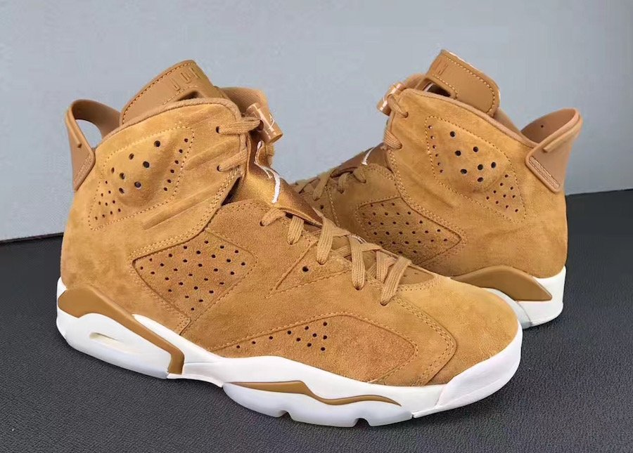 563b531e34c118 Air Jordan 6 Golden Harvest Wheat 384664-705 Release Date