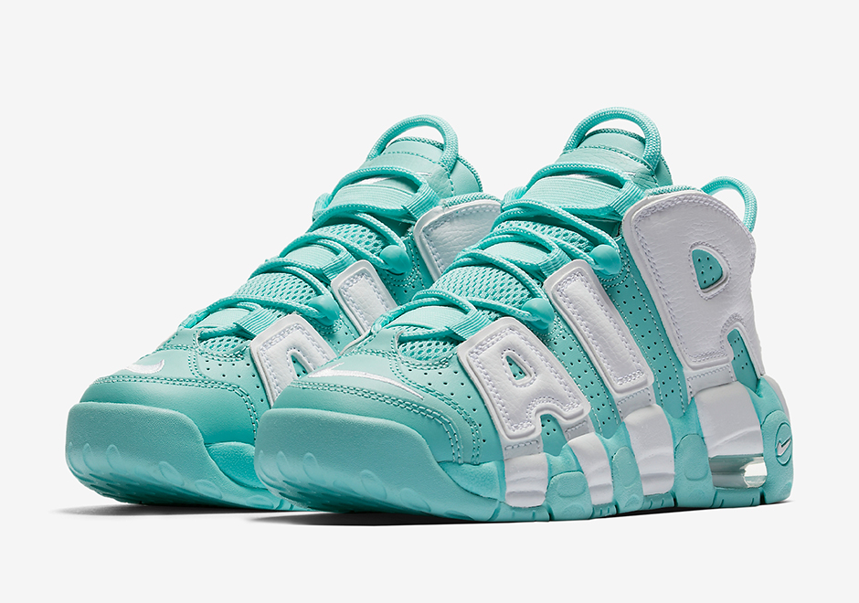 official photos 242b9 e3d3c Island Green Nike Air More Uptempo