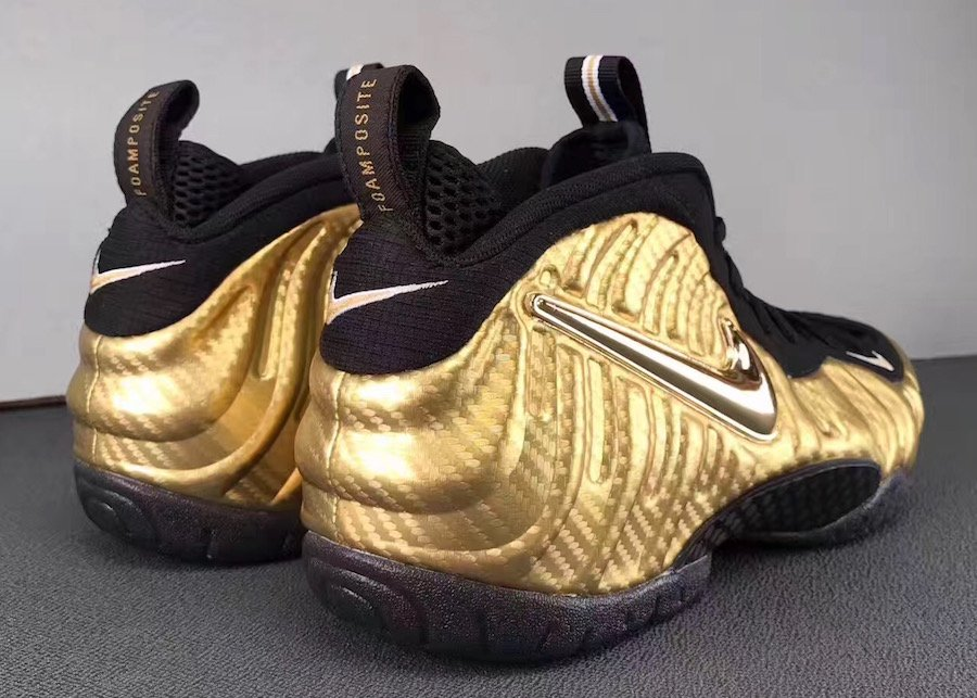 Metallic Gold Nike Foamposite Pro 624041-701
