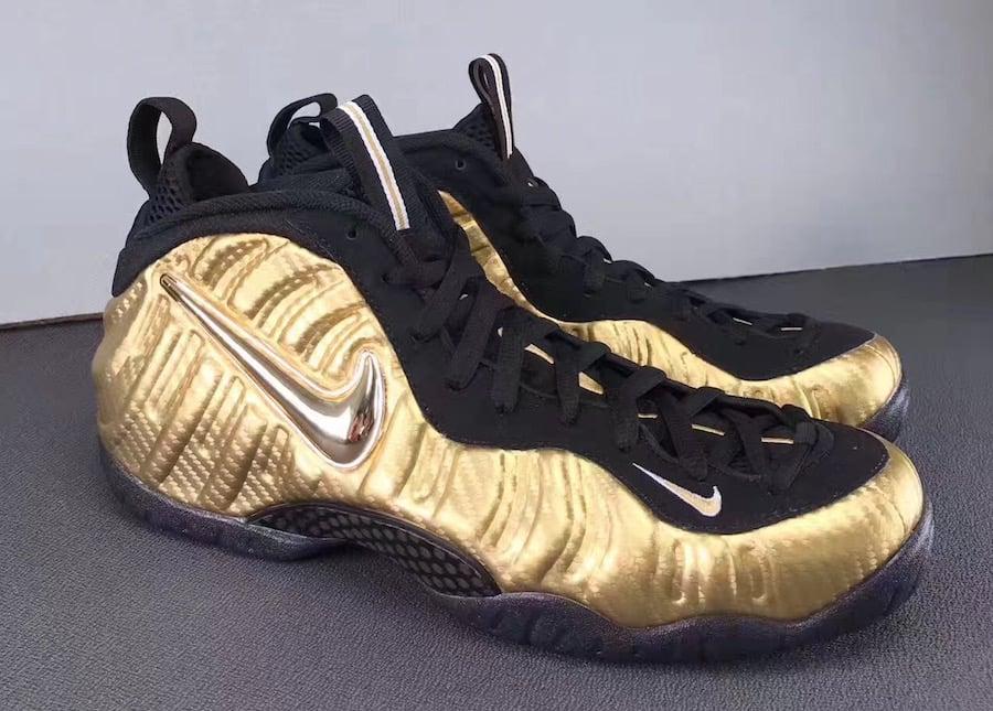 Metallic Gold Nike Foamposite Pro 624041-701