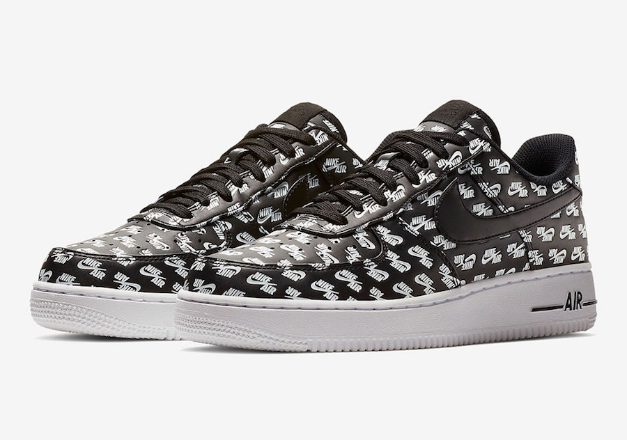 Nike Air Force 1 Low All Over Logo Black AH8462-001