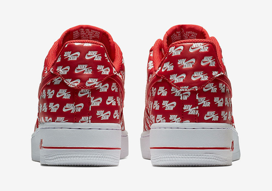 Nike Air Force 1 Low All Over Logo Red AH8462-600