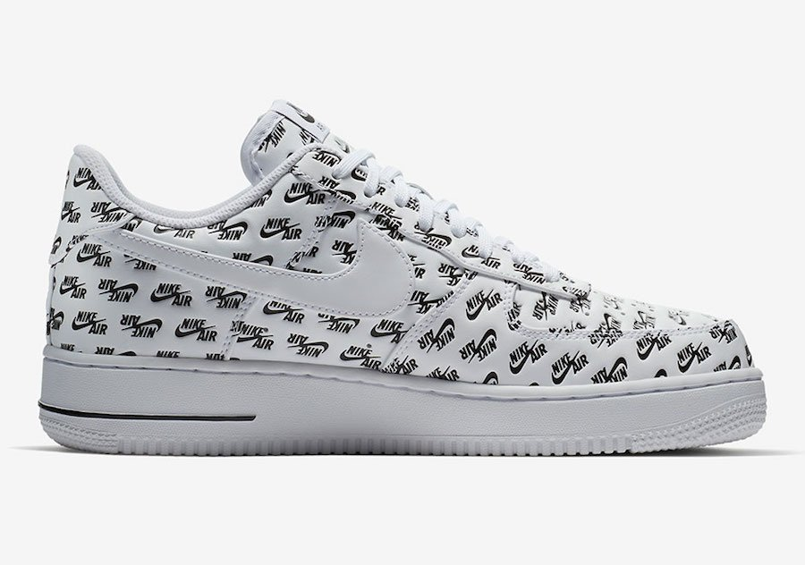 Nike Air Force 1 Low All Over Logo White AH8462-100