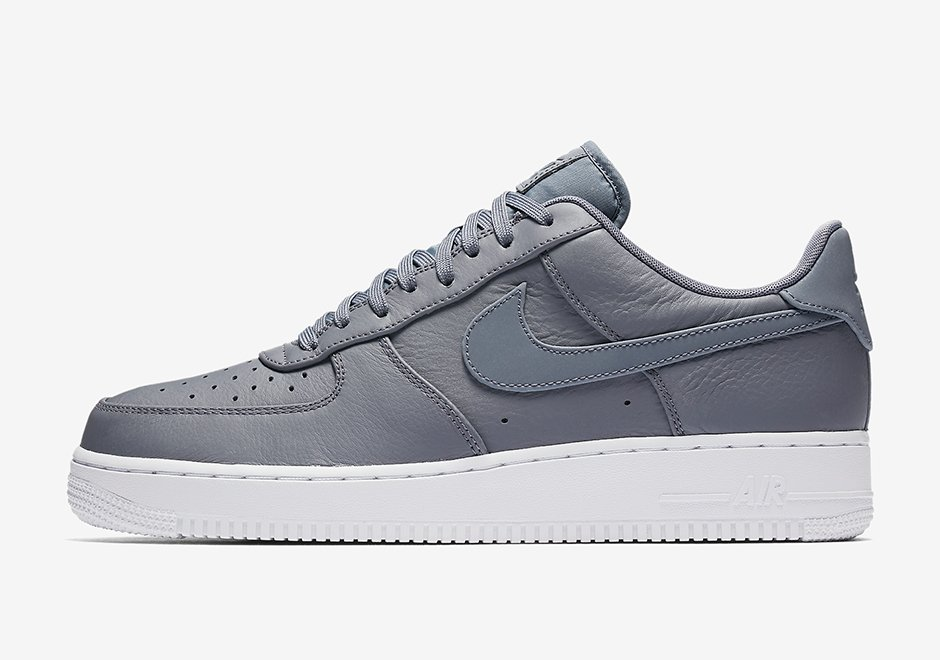 Nike Air Force 1 Low Premium Reflective Swoosh Cool Grey White 905345-003