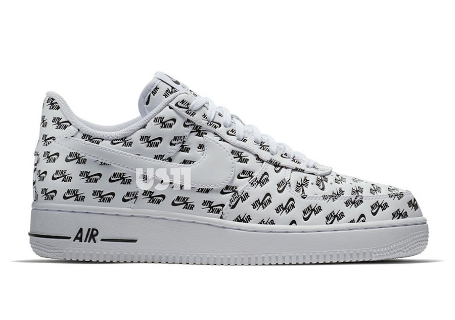 Nike Air Force 1 Low Print Logo White